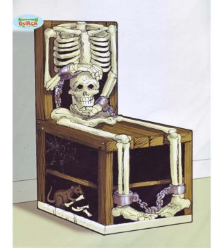decoración silla esqueleto
