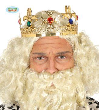 corona rey oro metálica